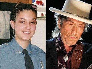 Long Branch Police Officer Kristie Buble who falsely arrested Bob Dylan because he didn't have any ID