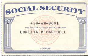 Social Security Card Photos sScFKm4f